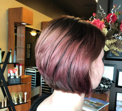 stacked mauve bob