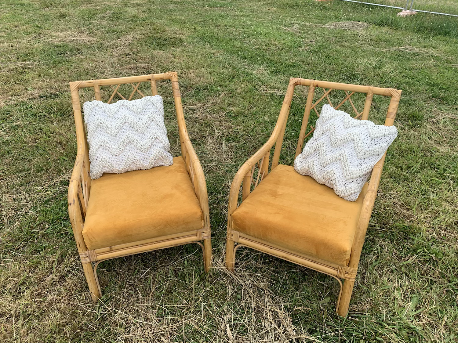 Mustard occasional chair - Cane