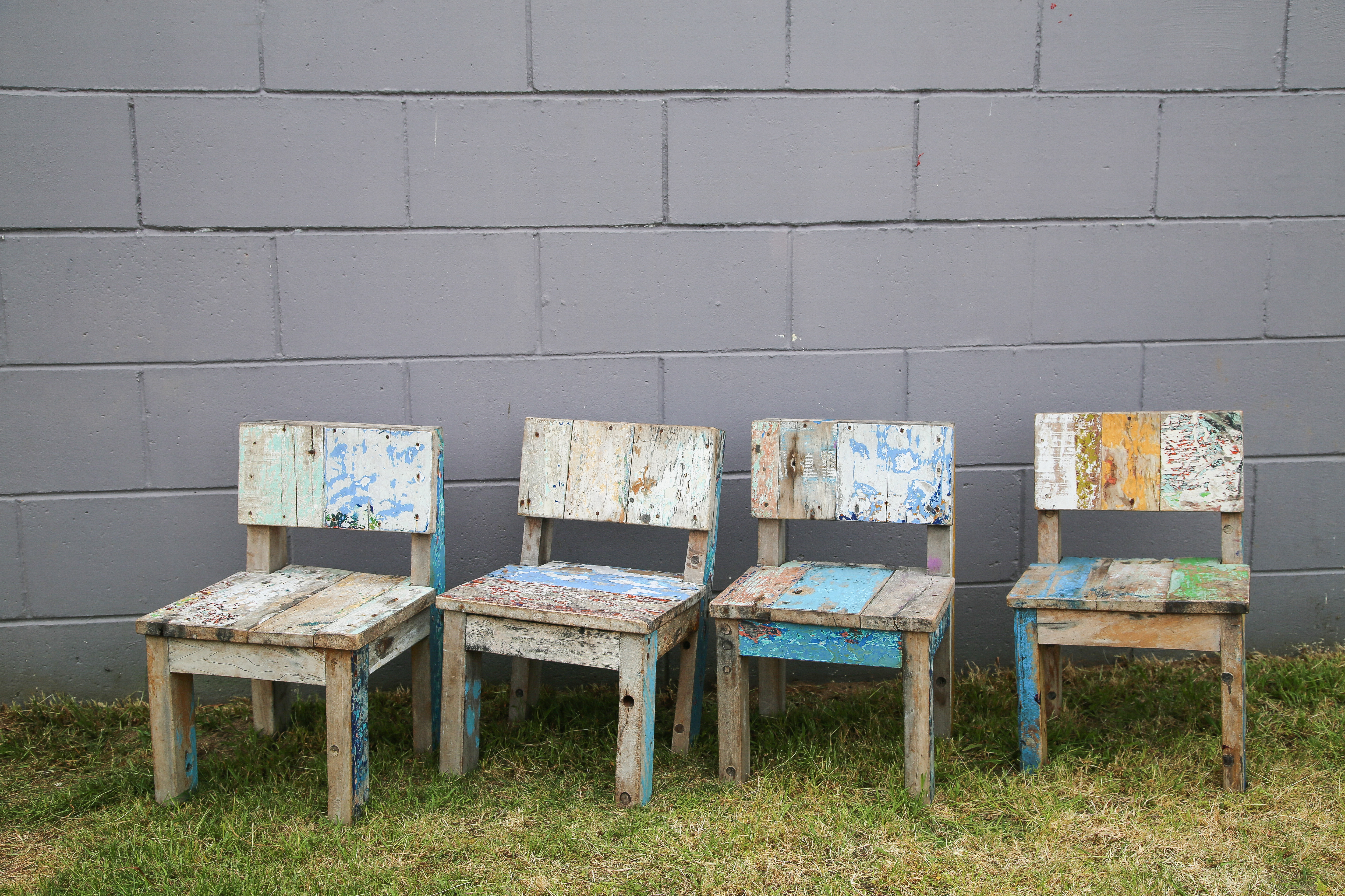 Kids Rustic Chairs