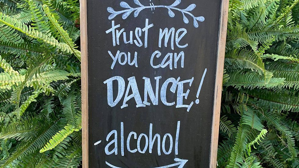 Trust me you can dance - Sign