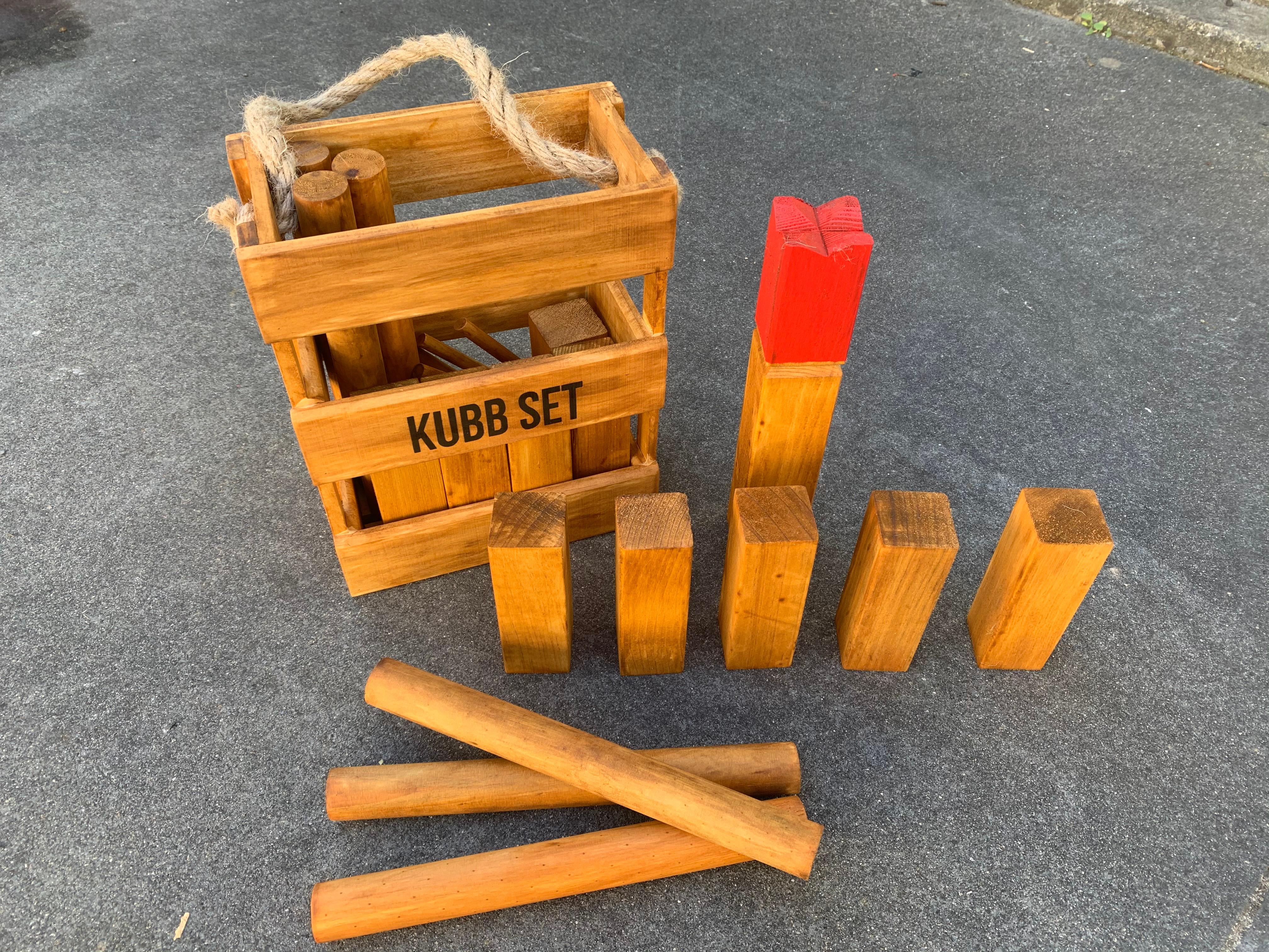Kubb outdoor game