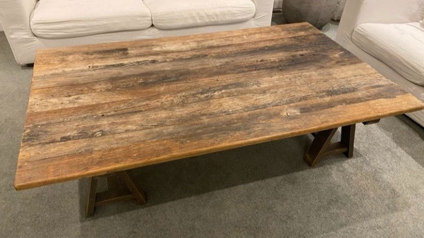 Large dining trestle table
