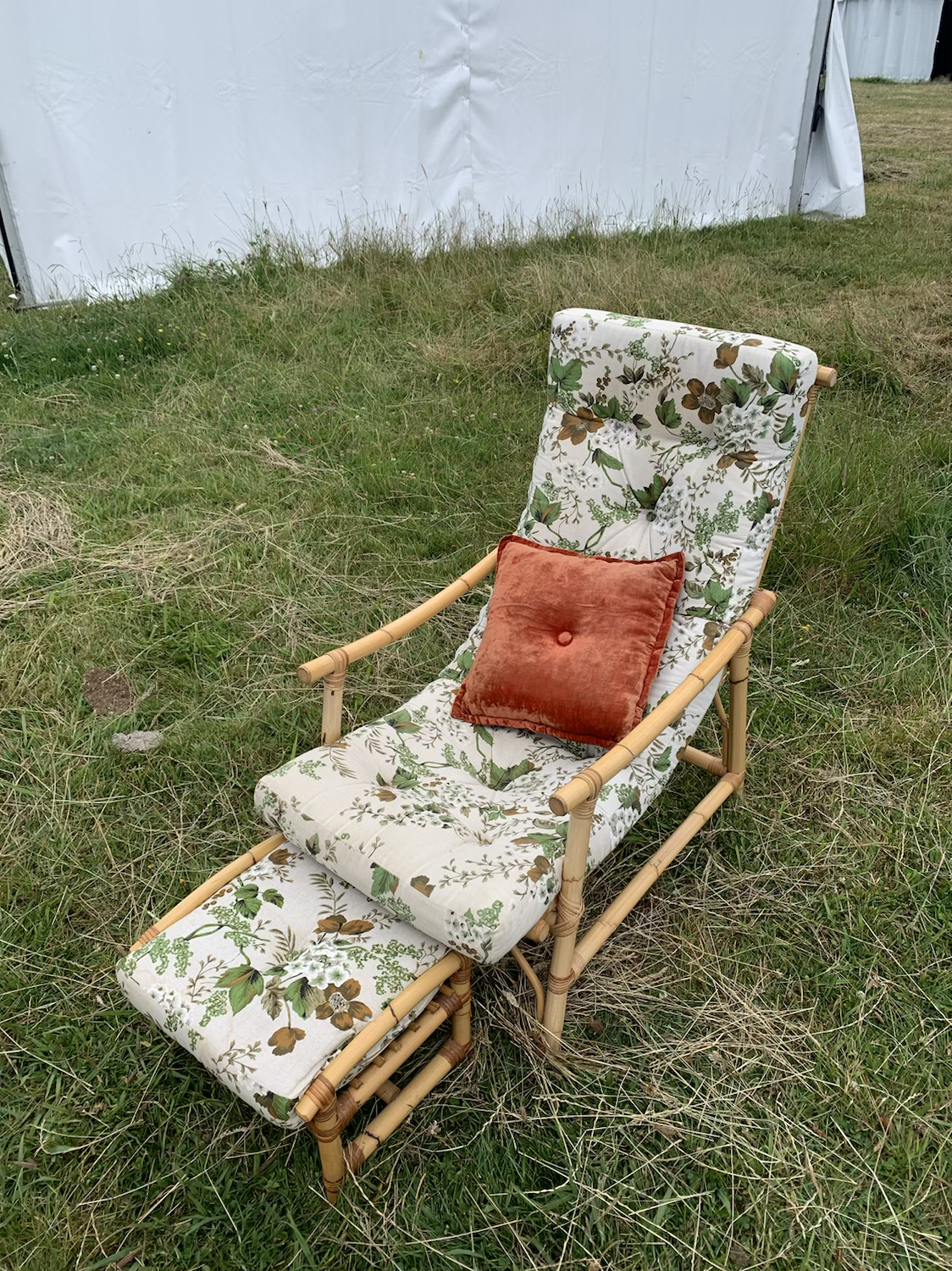 Occasional lounge chair floral - Cane