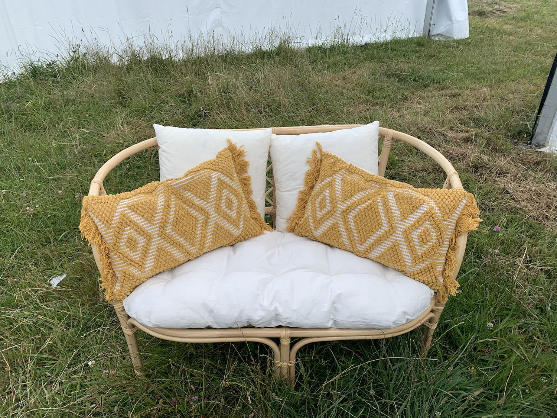 Bali 2 seater cushion backs - Cane