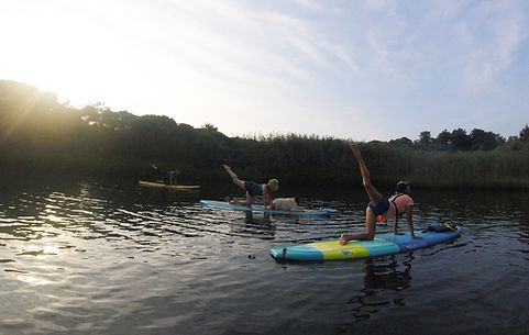 SUP Yoga on Menemsha Pond with Nico Corbo