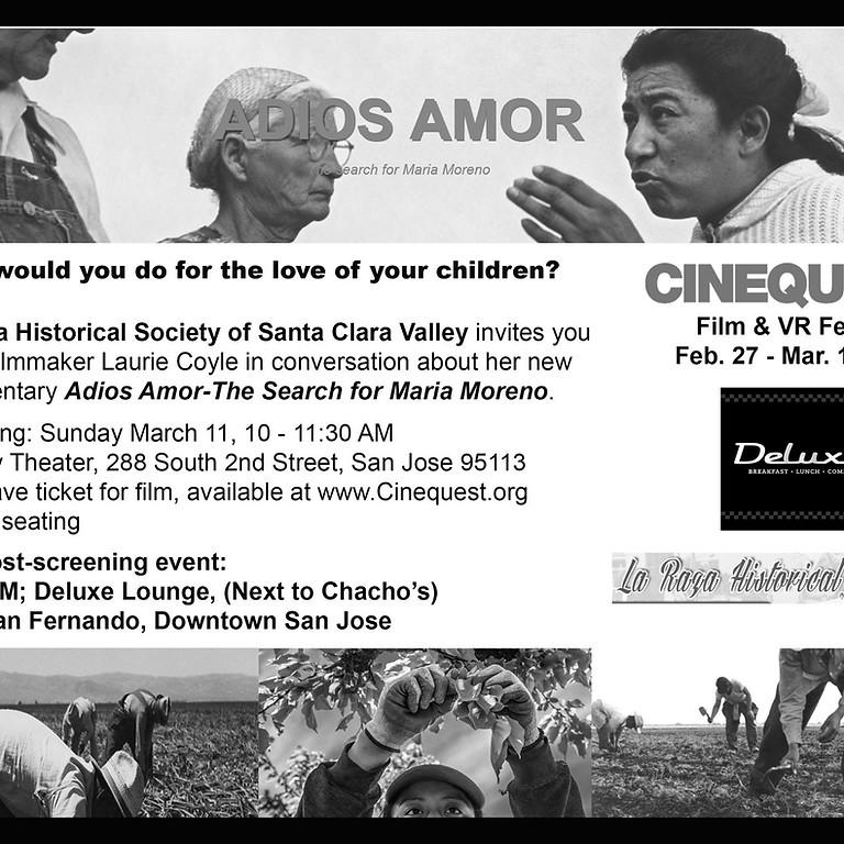 Adios Amor Film & Cinequest Film Festival