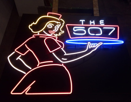 The 507 - Interior neon sign