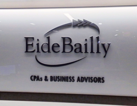 EideBailly - Painted aluminum logo and letters