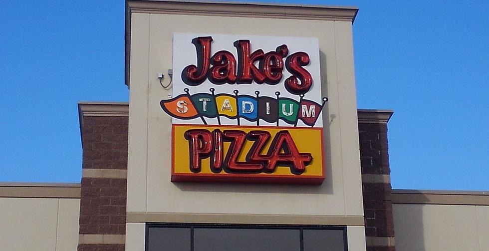 Jake's Stadium Pizza - Custom double and single stroke neon sign