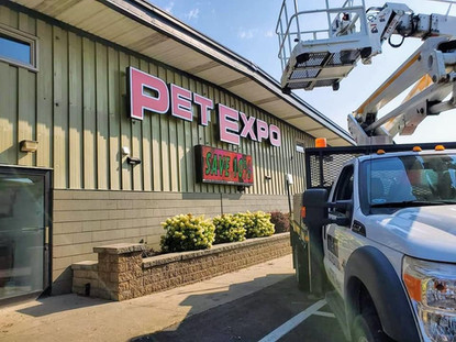 Pet Expo Channel Letter Sign