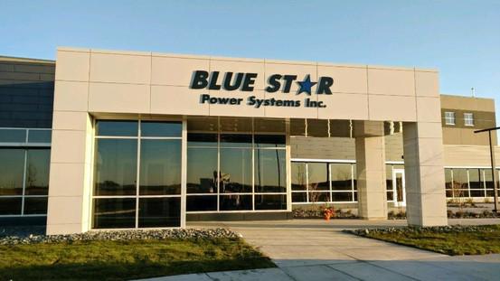 Blue Star - Custom cast aluminum letters