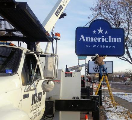 AmericInn - flex faces monument sign