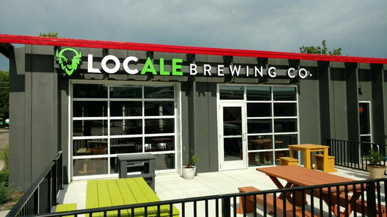Locale Brewing Co. - Illuminated channel logo & letters.