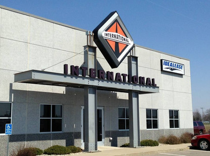 International - National installation of channel letters, logo and single face wall sign