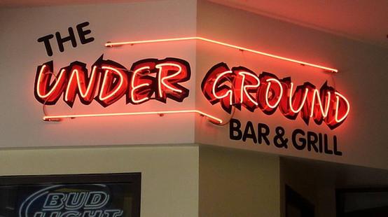 The Underground - Custom corner neon over vinyl graphics