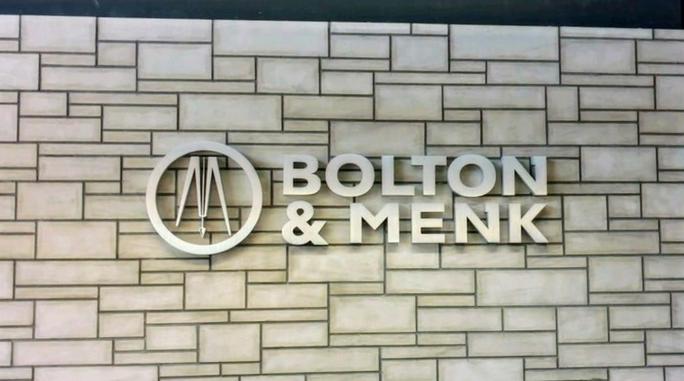 Bolton & Menk - custom cast aluminum logo/ letters