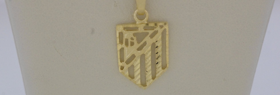 FAM-OCCL0382 Clgante oro de 18 qts Atletico de Madrid 11.8 x 16  mm