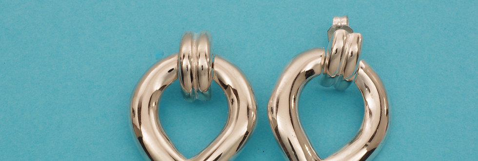 PPPEART40-4105 Pendientes plata articulados 35 x 23 mm