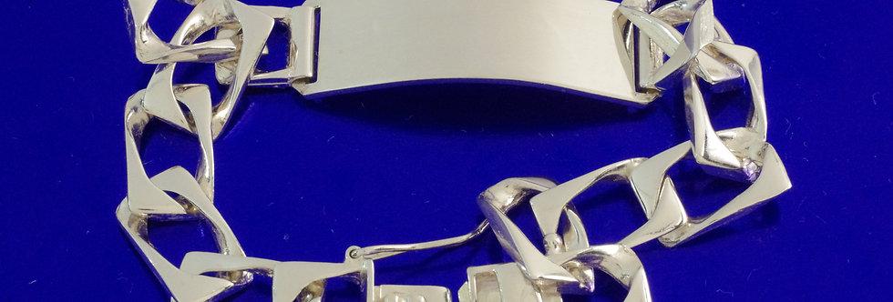 PPNOBAR46-0471 Nomeolvides plata de 11 mm de ancho macizo