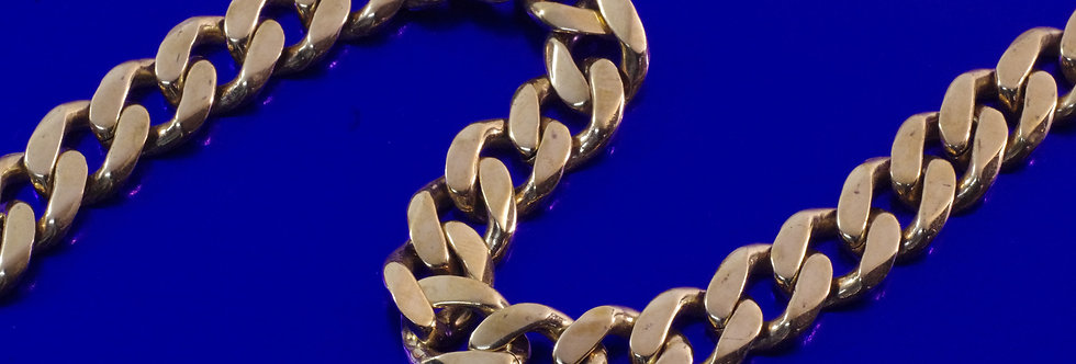 OAPUBAR44/0003 Pulsera caballero 21 cms x 11 mm. 56 grs oro de 18 qts