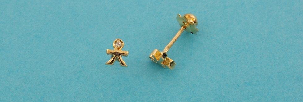 OAPEBRI35-32117 Pendientes oro 18 qts 4,5 mm con diamante