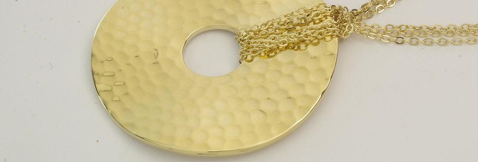 MDGALIS5-372 Gargantilla metal dorado