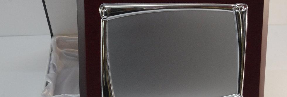 PLAC-VRXX865 Placa conmemorativa de madera y aluminio de 26 x 21 mm