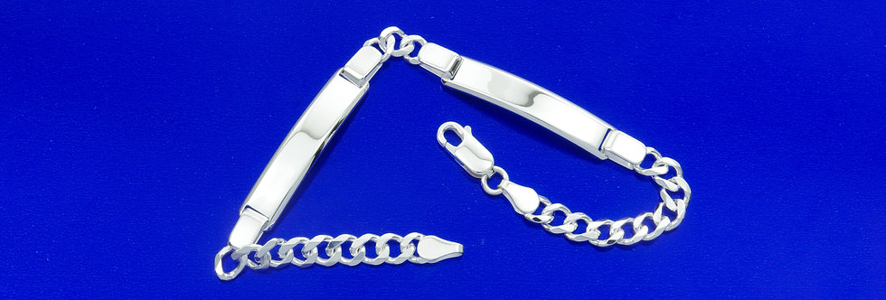 PPNOBAR46-2509 pulsera plata de 5 mm de ancho macizo