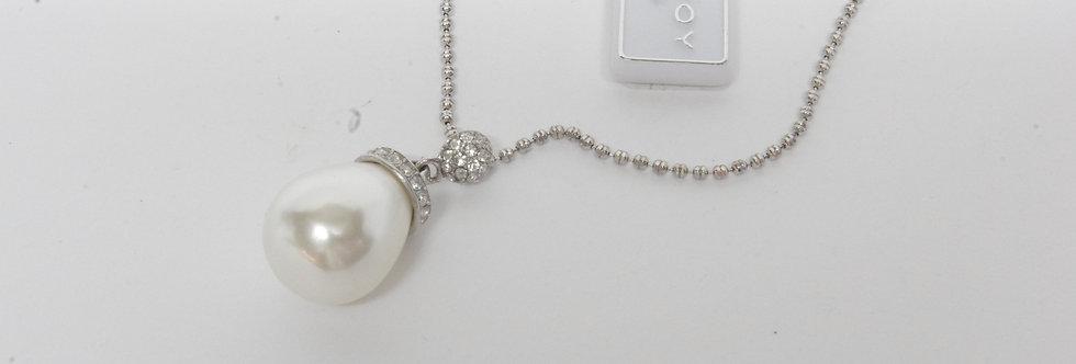 PPGASEÑ6-600 Gargantilla señora plata con perla sintética