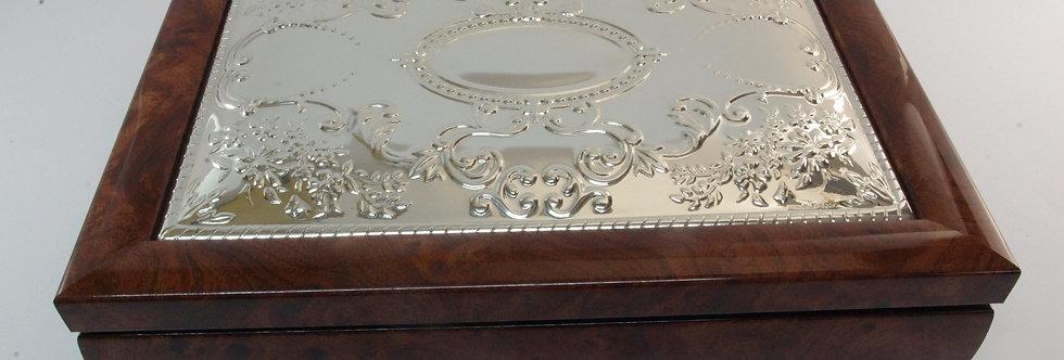 CAJA-PRXX0040 Caja madera y plata para puros