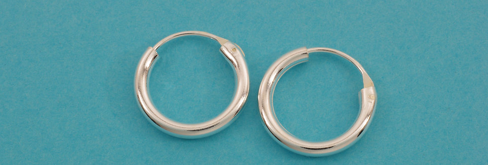 PPPERED34-5005 Pendientes  aro 14 x 2 mm plata 1 ley