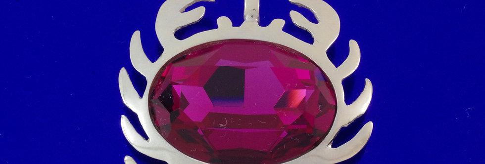PPCOHOR26-0012 Colgante plata horóscopo cáncer  de 41 mm con cristal de swarov