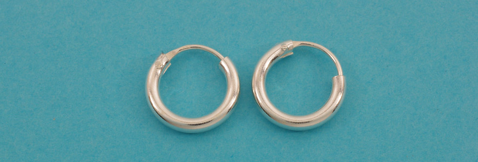 PPPERED34-5002 Pendientes  aro 12 x 2 mm plata 1 ley