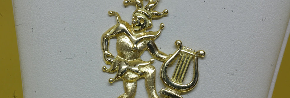 ARL-OCCL0450 Colgante oro de 18 qts arlequín 31 x 23 mm