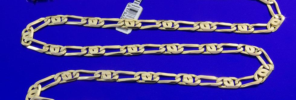 OCAOA60-20-75LC Cadena oro de 18 qts de 60 cms x 6 mm