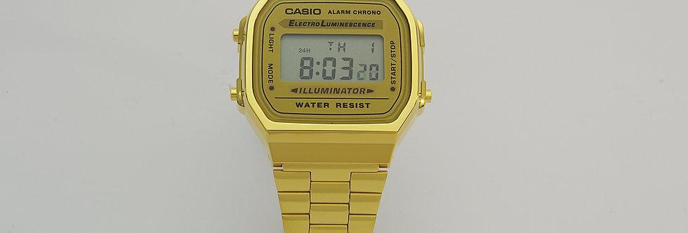 CAAD64/1268 Reloj casio digital unisex 35 mm fabricado en resina y acero dorado