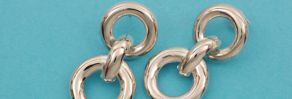 PPPEART40-4102 Pendientes plata articulados 36 x 17 mm