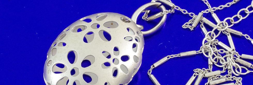 PPCOCOL26-0188 Colgante plata de 30 mm con cadena