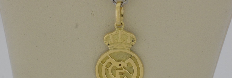 FRM-OCCL0510 Colgante oro 18 qts Real Madrid 13 x 18 mm