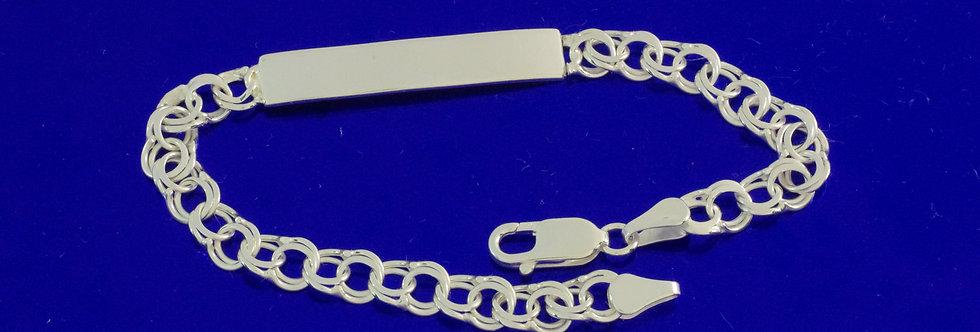 PPNOLIS46-926 Nomeolvides plata de 6 mm de ancho macizo
