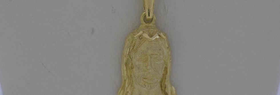 CAB-OCCL0387 Cabeza de cristo oro de 18 qts 11.5 x 17 mm