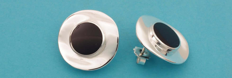 PPPERED40-1221 Pendientes plata 21 mm, con onix