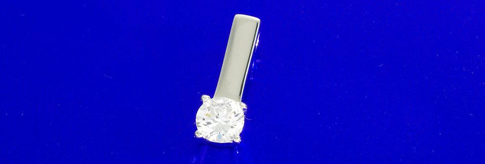 PPCOCOL26-1316 Colgante plata de 21 mm con circonita