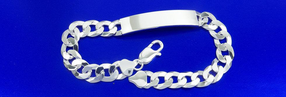 PPNOBAR46-2496 Nomeolvides plata de 9 mm de ancho macizo