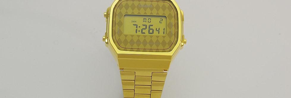 CAAD64/1269 Reloj casio unisex 36 mm fabricado en resina y acero dorado