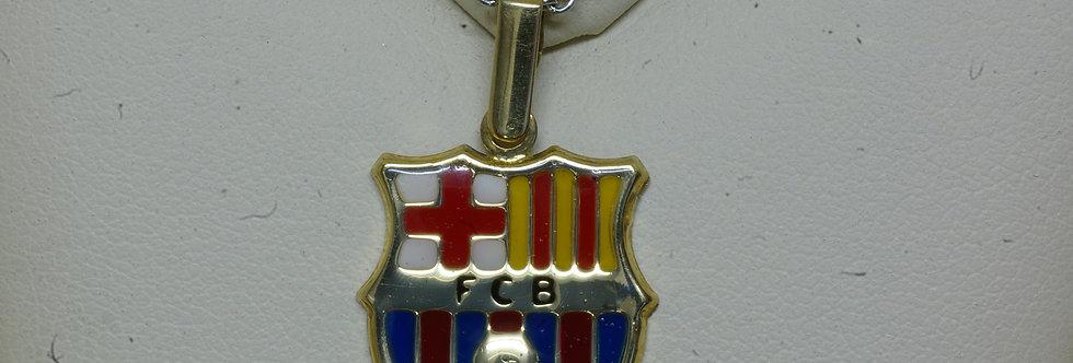FCB-OCCE0069 Colgante oro de 18 qts F.C.B 18 X 16 mm