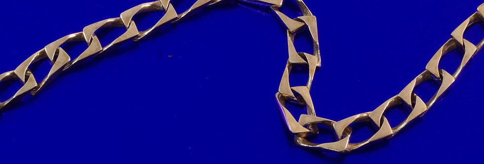 OAPUBAR44/0004 Pulsera caballero 20,5 cms x 7 mm. 23 grs de oro de 18 qts
