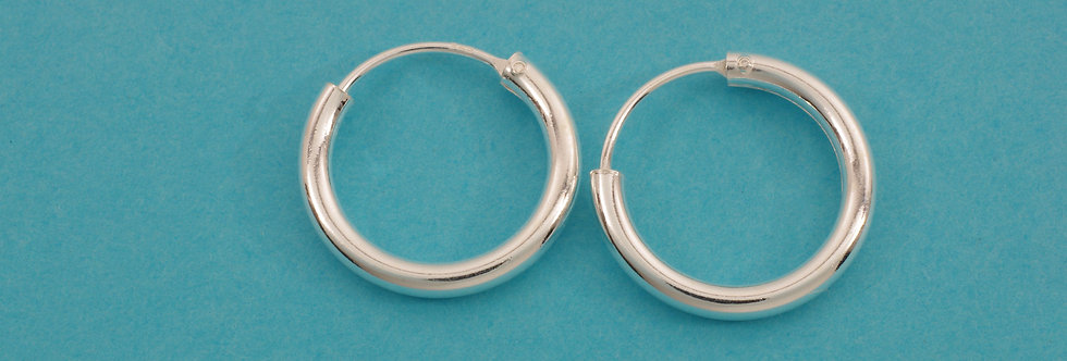 PPPERED34-5004 Pendientes  aro 16 x 2 mm plata 1 ley