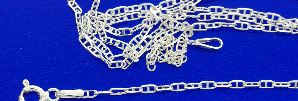 P60FALP2469 Cadena plata 1,6 mm x 60 cms