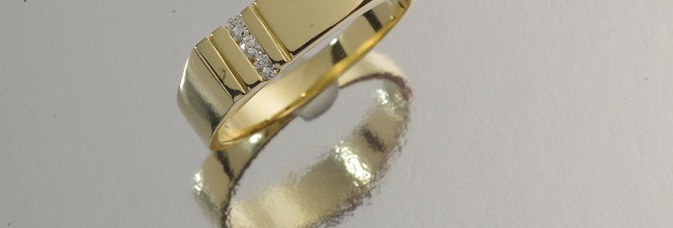 OAANSEL13-701 Sello oro 18 qts medida cadete comunión con diamantes